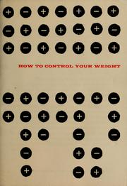 Cover of: How to control your weight