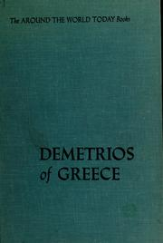 Cover of: Demetrios of Greece