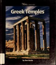 Cover of: Greek temples | Don Nardo