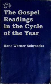 Cover of: The gospel readings in the cycle of the year