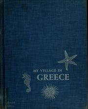 Cover of: My village in Greece