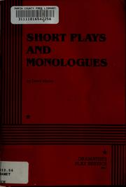 Cover of: Short plays and monologues