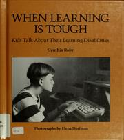 Cover of: When learning is tough | Cynthia Roby