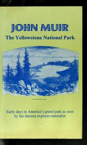 Cover of: The Yellowstone national park