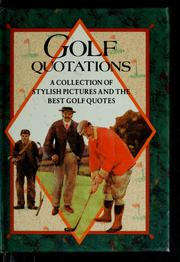 Cover of: Golf quotations