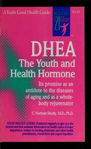 Cover of: DHEA, the youth and health hormone