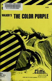 Cover of: The color purple notes | Gloria Rose