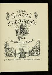 Cover of: Bertie's escapade