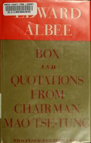 Cover of: Box and Quotations from Chairman Mao Tse-tung