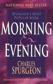 Cover of: Morning & evening by Charles Haddon Spurgeon