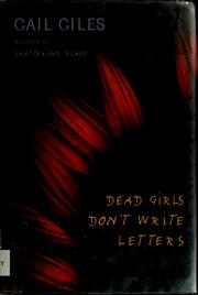 Cover of: Dead girls don't write letters