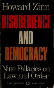 Cover of: Disobedience and democracy