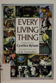 Cover of: Every living thing by Cynthia Rylant