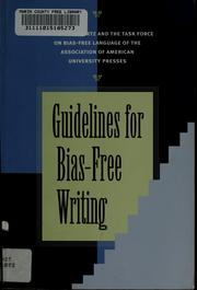 Cover of: Guidelines for bias-free writing