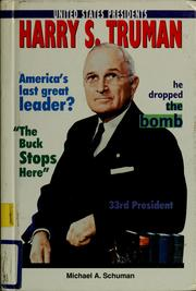 Cover of: Harry S. Truman | Michael Schuman