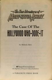 Cover of: Hollywood who done it