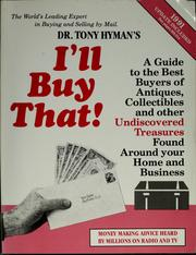Cover of: Dr. Tony Hyman's I'll buy that!