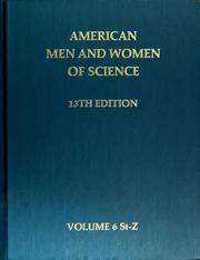 Cover of: American men and women of science, 13th edition | Jaques Cattell Press