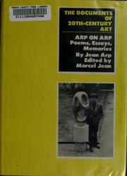 Cover of: Arp on Arp: poems, essays, memories