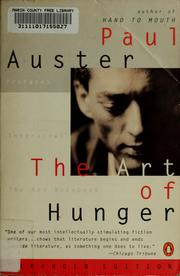 Cover of: The art of hunger