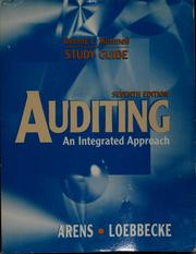 Cover of: Auditing, an integrated approach, Alvin A. Arens, James K. Loebbecke | Dennis Kimmell