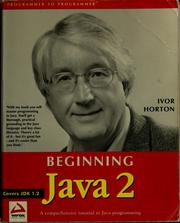 Cover of: Beginning Java 2