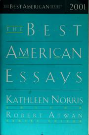 Cover of: The best American essays 2001