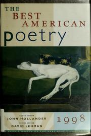 Cover of: The Best American Poetry 1998