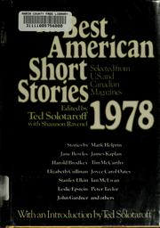 The Best American Short Stories 1978