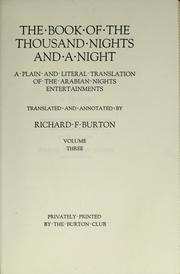 Cover of: The book of the thousand nights and a night | Sir Richard Burton