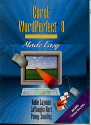 Cover of: Corel WordPerfect 8 made easy