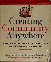 Cover of: Creating community anywhere | Carolyn R. Shaffer