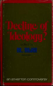 Cover of: Decline of ideology?