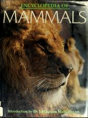 Cover of: Encyclopedia of mammals | Maurice Burton