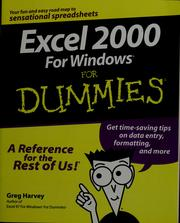 Cover of: Excel 2000 for Windows for dummies
