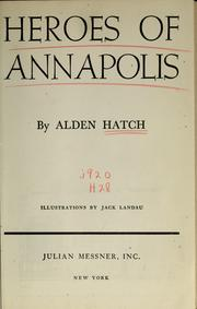 Cover of: Heroes of Annapolis