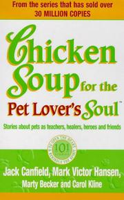Cover of: Chicken Soup for the Pet Lover's Soul (Chicken Soup)