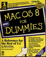 Cover of: Mac OS 8 for dummies