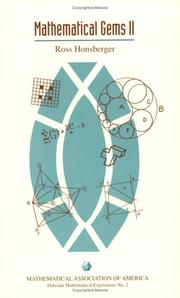Cover of: Mathematical Gems II