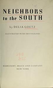 Cover of: Neighbors to the south