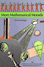 Cover of: More Mathematical Morsels (Dolciani Mathematical Expositions)