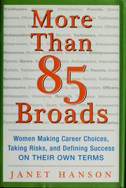 Cover of: More than 85 broads | Janet Hanson