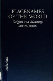 Cover of: Placenames of the world