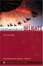 Cover of: Mathematical delights