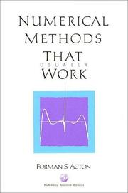 Cover of: Numerical methods that work | Forman S. Acton