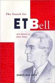 Cover of: The search for E.T. Bell