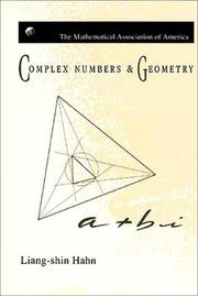 Cover of: Complex numbers and geometry | Liang-shin Hahn