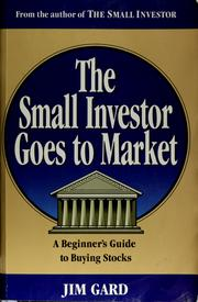 Cover of: The small investor goes to market