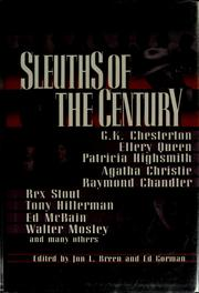 Cover of: Sleuths of the century | Jon L. Breen
