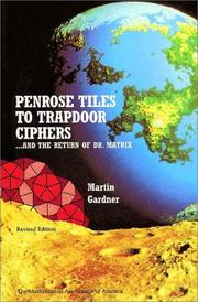 Cover of: Penrose tiles to trapdoor ciphers: --and the return of Dr. Matrix